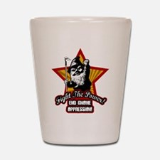 Fight The Power Gnome Shot Glass