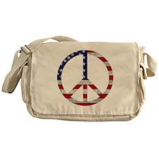 American Flag Peace Sign Messenger Bag