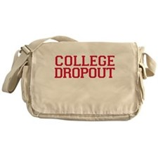 College Dropout - red Messenger Bag