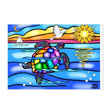 Sea Turtle #8 Postcards (Package of 8)