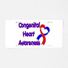 Congenital Heart Defect Aluminum License Plate