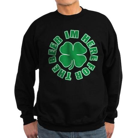 Im Here for the Beer Irish Sweatshirt (dark)