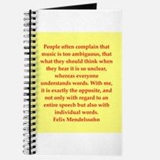 Felix Mendelssohn quotes Journal