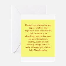 Felix Mendelssohn quotes Greeting Card