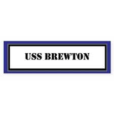 USS Brewton Bumper Sticker