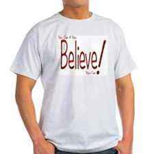 Believe! (Red) Ash Grey T-Shirt
