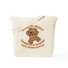 Teddy Bear Pirate Tote Bag