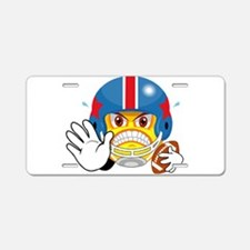 FOOTBALL SMILEY Aluminum License Plate