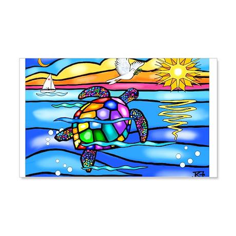 Sea Turtle #8 20x12 Wall Decal