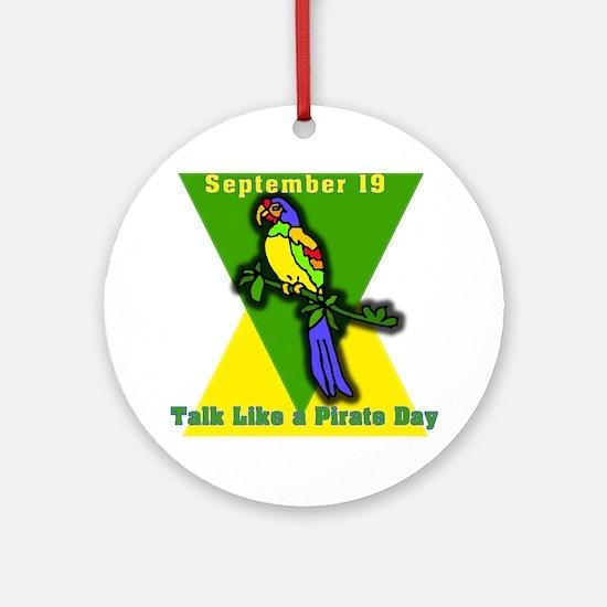 Talk Like a Pirate Day Ornament (Round)