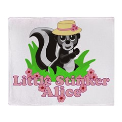 Little Stinker Alice Throw Blanket