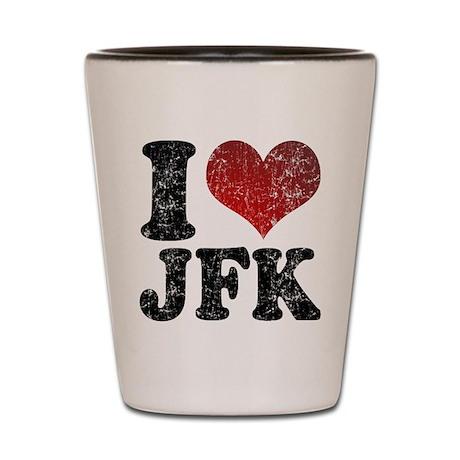 I heart JFK Shot Glass