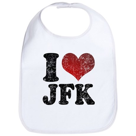 I heart JFK Bib