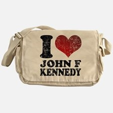I love John F Kennedy Messenger Bag