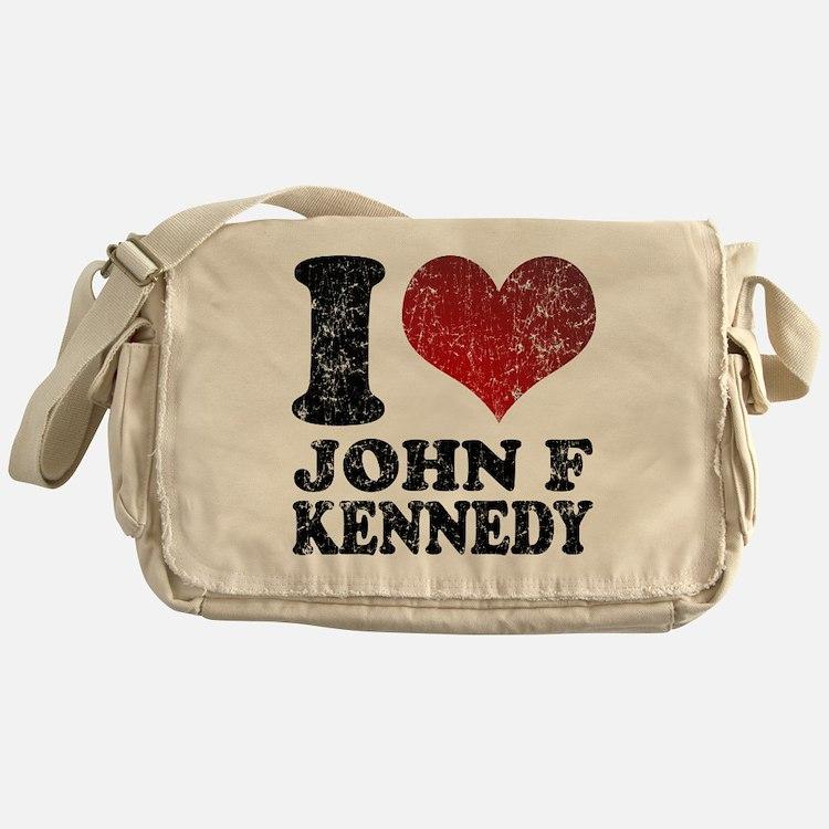 I love John F Kennedy Messenger Bag