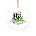 Little Stinker Allison Ornament (Round)