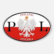 Polish Polska Oval Stickers