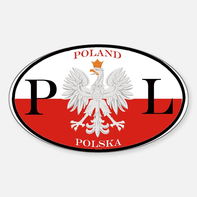 Polish Polska Oval Stickers