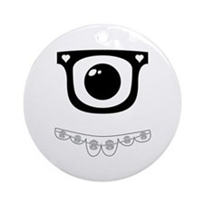 Techie Becky Ornament (Round)