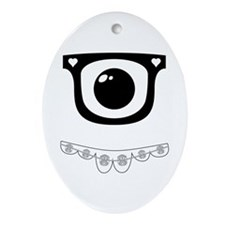 Techie Becky Ornament (Oval)