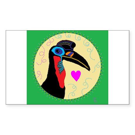 hornbill Sticker (Rectangle)