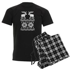Moose Sweater Christmas Pattern Pajamas