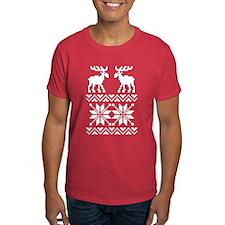 Moose Sweater Christmas Pattern T-Shirt