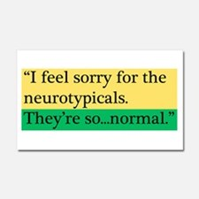 Neurotypicals Car Magnet 20 x 12