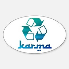 Recycle KARMA Sticker (Oval)