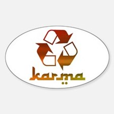 Recycle KARMA Sticker (Oval)