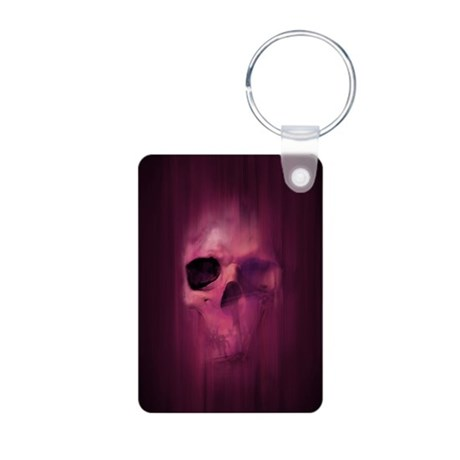 Aggressive Skull (Purple) Aluminum Photo Keychain