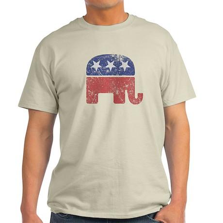 Worn Republican Elephant Light T-Shirt