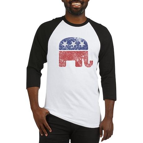 Worn Republican Elephant Baseball Jersey
