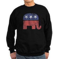 Worn Republican Elephant Sweatshirt