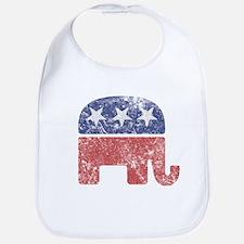 Worn Republican Elephant Bib