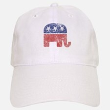 Worn Republican Elephant Baseball Baseball Cap