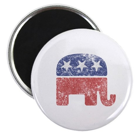"Worn Republican Elephant 2.25"" Magnet (10 pack)"