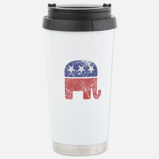 Worn Republican Elephant Stainless Steel Travel Mu