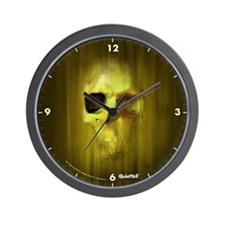 Aggressive Skull (Green) Wall Clock