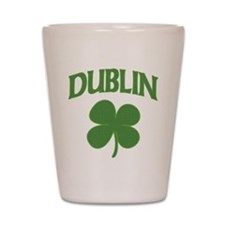 Dublin Irish Shamrock Shot Glass