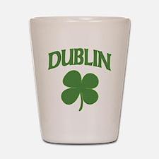 Dublin Irish Shamrock Shot Glass