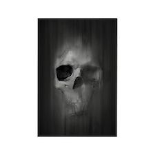 Aggressive Skull (Gray) Rectangle Magnet