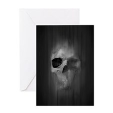 Aggressive Skull (Gray) Greeting Card