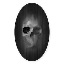 Aggressive Skull (Gray) Decal
