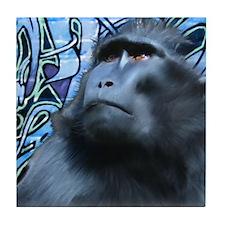 Black Macaque Tile Coaster