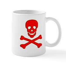 Blood Red Skull & Crossbones Mug