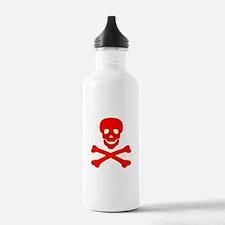 Blood Red Skull & Crossbones Water Bottle