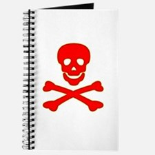 Blood Red Skull & Crossbones Journal