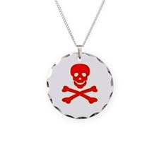 Blood Red Skull & Crossbones Necklace