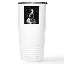 Dramatic Border Collie Travel Mug